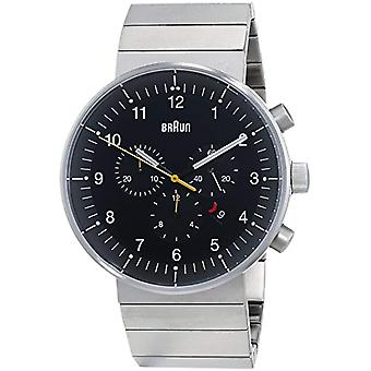 Braun men's Quartz Analog leather strap BN0095BKSLBTG