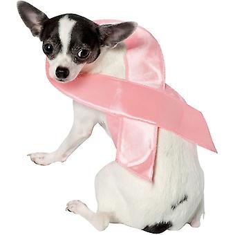 زي الحيوانات الأليفة الشريط الوردي