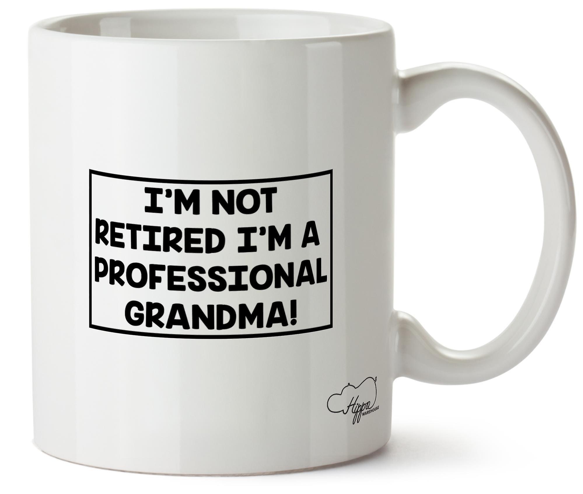 Hippowarehouse, я не пенсии я профессиональный бабушка 10 oz кружка