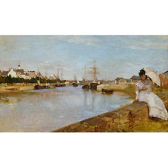 Vue du petit Port de لوريان, Berthe Morisot, 60x35cm