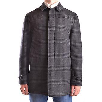 Aspesi Ezbc067062 Men's Grey Wool Coat