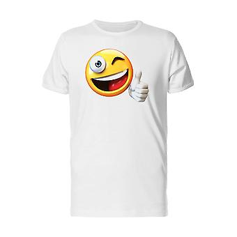 Happy Thumb Up Emoji Smiling Tee Men's -Image by Shutterstock