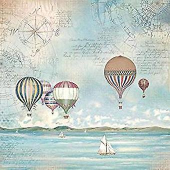 Stamperia Rice Paper Napkins Sea Land Balloons (DFT335)