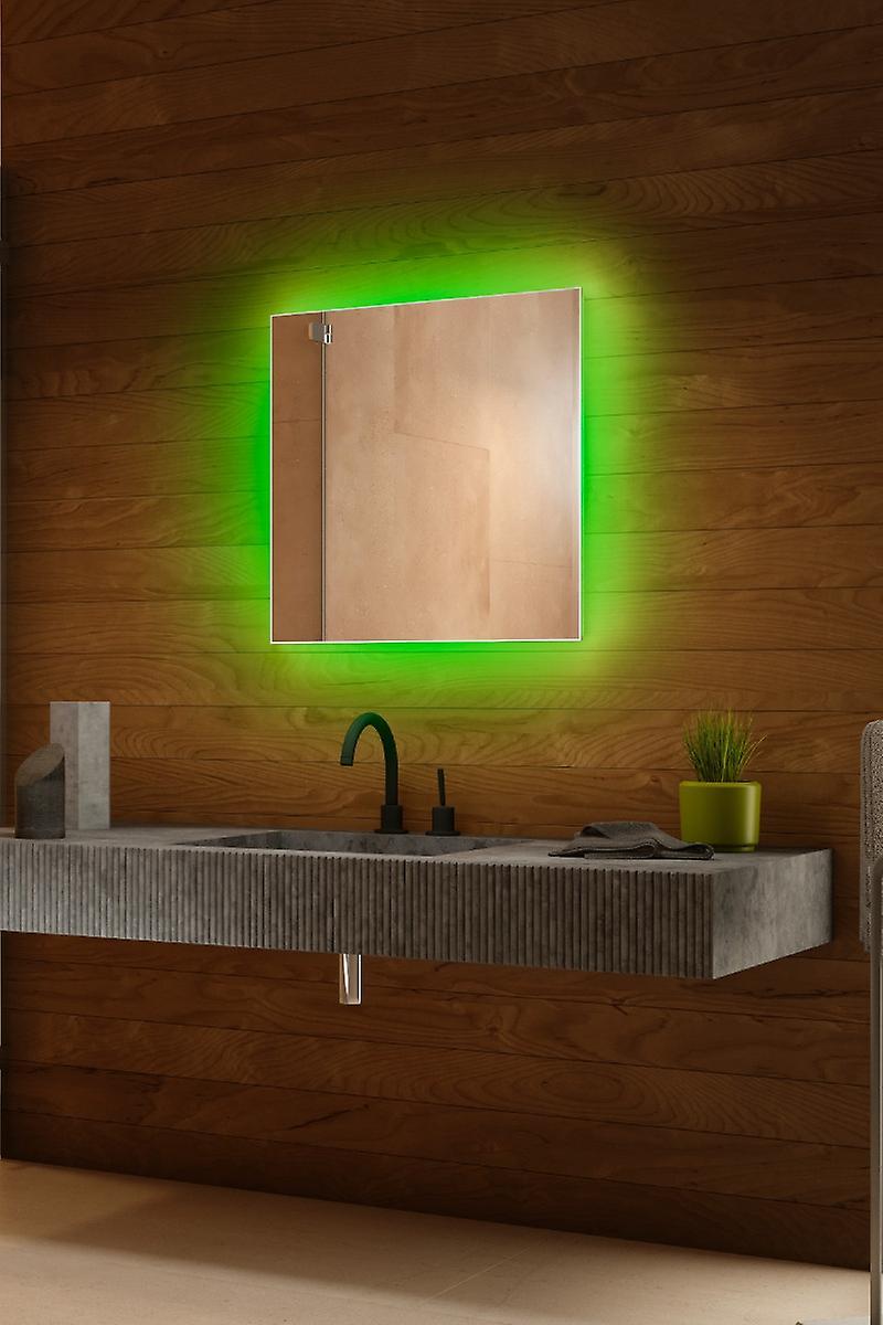RGB audio rétro-éclairé miroir avec capteur, demister & Shaver k702BLrgbaud
