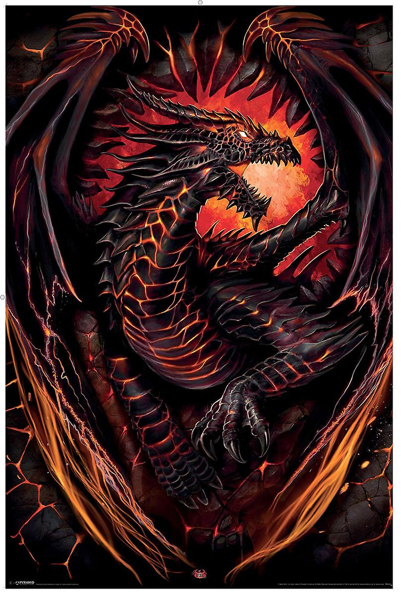 Spiral Direct Gothic DRAGON FURNACE - Poster 62x92cm|Dragon|Wings|Flames