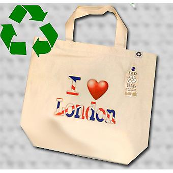 Eu amo Londres Tote Bag eco reciclado