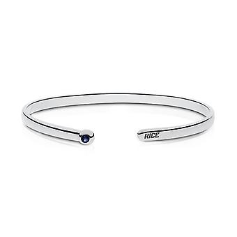 Rice University Engraved Sterling Silver Sapphire Cuff Bracelet