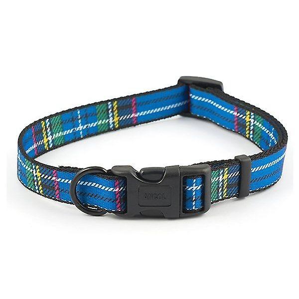 Ancol Blue Tartan Adjustable Dog Collar - 20-30cm