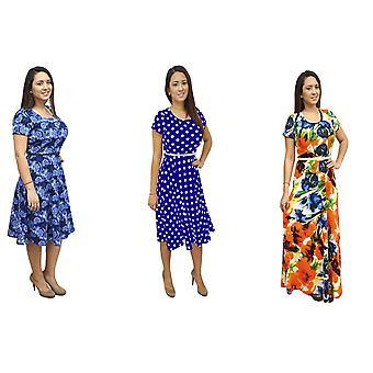 Dbg women's short sleeves scoop neck polyester dress