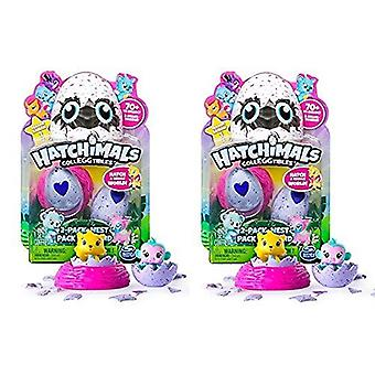 Hatchimals Colleggtibles Series 1 Bundle 2 Pack ja Nest sarja 2 pakkausta