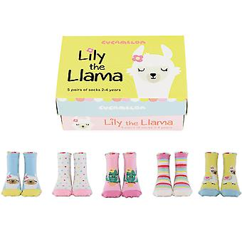 Cucamelon Lily The Llama Socks Gift Set 2-4 Years
