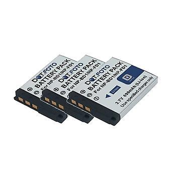 3 x Dot.Foto Sony NP-BD1, akumulator NP-FD1 - 3, 7V / 690mAh