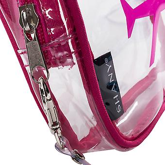 SHANY His & Hers TSA Approved Airline Friendly Clear Carry-on Toiletry Travel Bags & Personal Organizer -  Water-resistant - Set of 2 For Couples