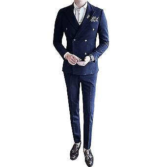 Allthemen Erkek 3adet Silm fit 3 Adet Takım Elbise ( Blazer & Yelek & Pantolon )