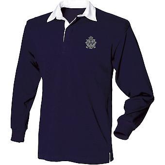 Corps of Army Music CAMUS-lisensoitu Britannian armeijan kirjailtu pitkähihainen Rugby-paita