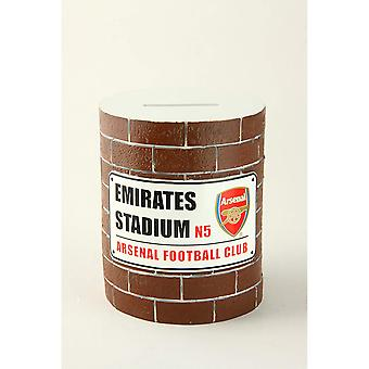 Arsenal FC Brick Wall Money Box