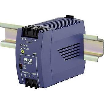 PULS MiniLine ML70.100 Rail mounted PSU (DIN) 24 V DC 3 A 72 W 1 x