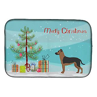Shepherd Pit Mix #1 Christmas Tree Dish Drying Mat