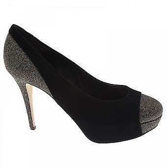 Hogl Highheel Glitter Toe Platform Court Shoe Black