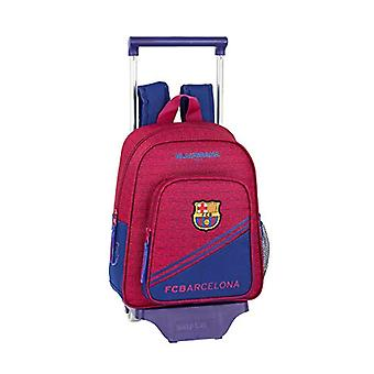 FC Barcelona corporate official children's backpack with cart safta 705