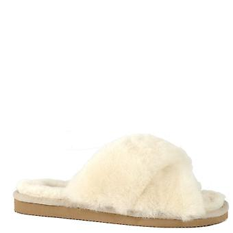 Shepherd of Sweden Lovisa Creme Sheepskin Slipper