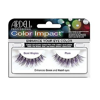 Ardell Color impact valse wimpers-Demi Wispies-pruim