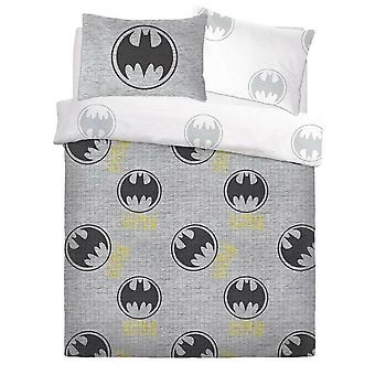 Batman Grey Logo Rotary Duvet Set