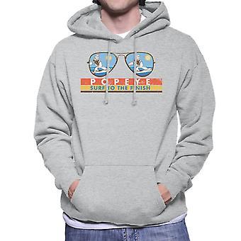Popeye Sunglasses Surf To The Finish Men's Hooded Sweatshirt