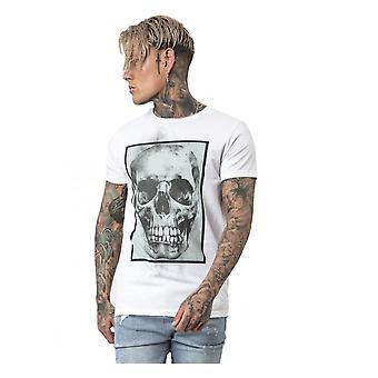 Religion Clothing Religion Mens Box Skullstraight Hem Tee White/khaki