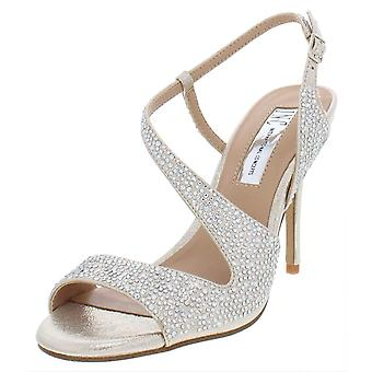 INC International Concepts Womens Renita Fabric Open Toe Special Occasion Ank...
