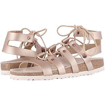 Birkenstock Womens 1008934-380 Leather Open Toe Casual Gladiator Sandals