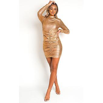 IKRUSH mujeres Coco cuello alto Mini vestido