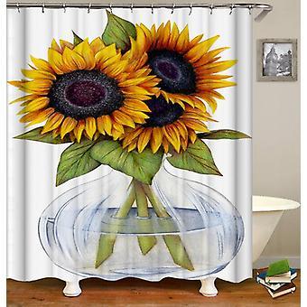 Sunflowers Vase Shower Curtain