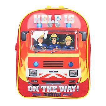 Strażak Sam Hector Dzieci's Plecak, 30 cm, 4L, Czerwony