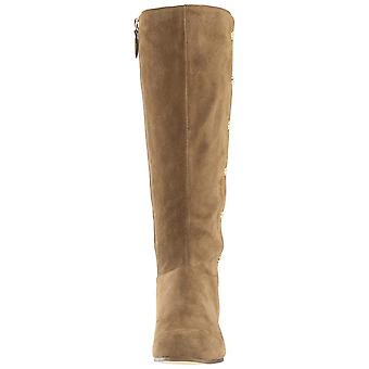 Nove mulheres ocidental Oreyan couro redondo Toe joelho alta moda botas