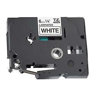 Kaseta Prestige™ kompatybilna tz-211/tze-211 czarna na białych taśmach etykietowych (6mm x 8m) do maszyn do drukowania etykiet p-touch brata