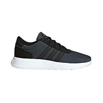 Adidas Lite Racer bambini ragazzi Lace Up sport Trainer scarpa nero/grigio