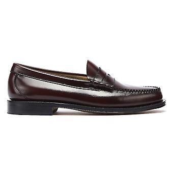 G.H. Bass & Co. Weejuns Heritage Larson Mens Wine Penny Loafers