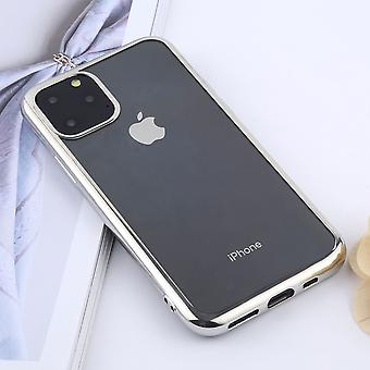 Voor iPhone 11 Pro Max Case, Clear Protective Back Cover, Zilver