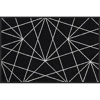 Salon lion satellite black-white floor mats washable 50 x 75 cm