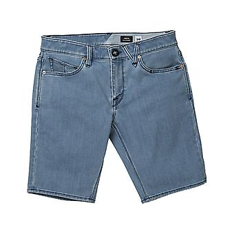 Volcom Vorta Denim Short Denim Shorts in Flat Vintage Indigo