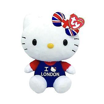 Hello Kitty I Love London TY Beanie Plush Toy