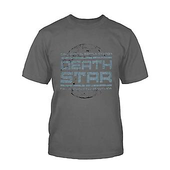 Official Kids Star Wars T Shirt Death Star Battle Station Logo New Charcoal