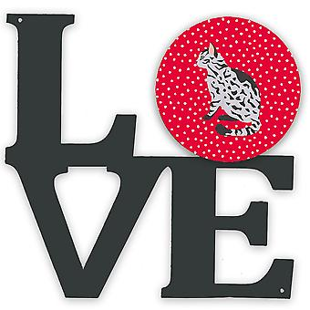 Carolines Treasures  CK5785WALV Serengeti Cat Love Metal Wall Artwork LOVE