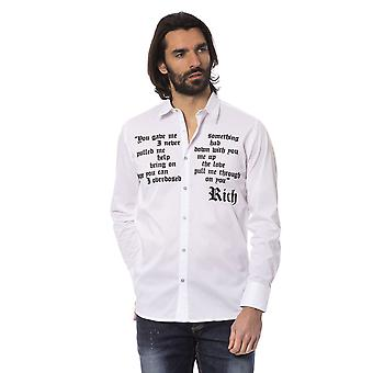 Rich John Richmond Men's White Shirt