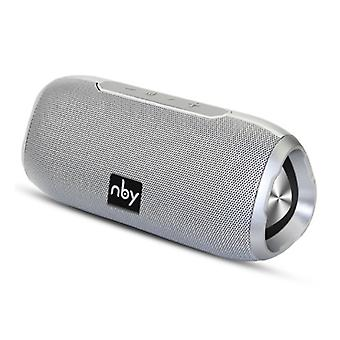 NBY Wireless Speaker External Speaker Wireless Bluetooth 4.2 Speaker Soundbar Box Silver