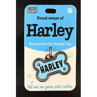 Wags & Whiskers Pet Identity Tag - Harley
