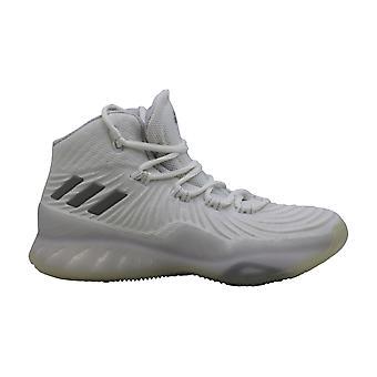 Bambini Adidas Ragazze Esplosivo Rimbalzo J Basso Top Pizzo Up Scarpe da basket