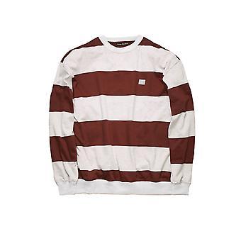 Acne Studios Ci0034295 Women's White/brown Cotton Sweatshirt
