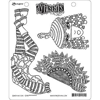 "Dyan Reaveley's Dylusions Cling Stamp Collections 8.5""X7"" - Sunshine Girl"